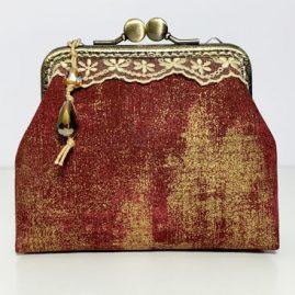 Burgundi vörös tárca