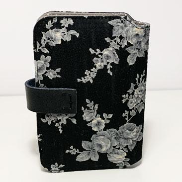 Fekete Rózsás Papírzsebkendő Tartó háta ZSE03