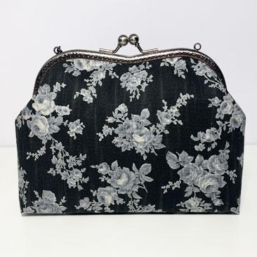 Fekete rózsás táska háta TÁS01