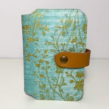 Aranyos Türkiz Papírzsebkendő tartó  ZSE01