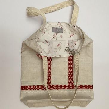 Piros szőttes tote bag TOT01