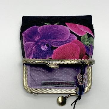 Orchideás tárca belseje