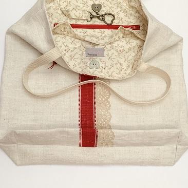 Vintage tote bag feneke