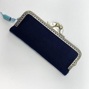 Kék szellővirág tolltartó hátulja