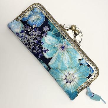 Kék szellővirág tolltartó TOL05