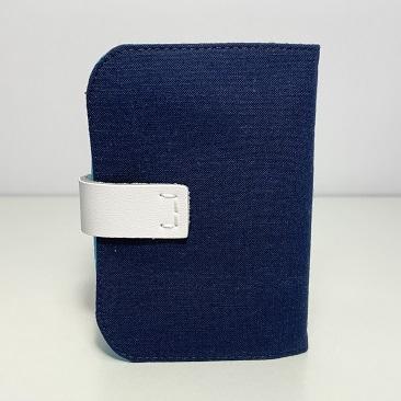 Kék szellővirág kártyatartó hátulja
