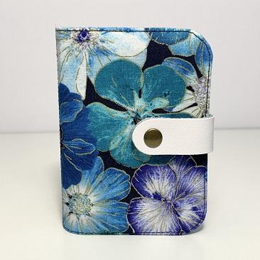 Kék szellővirág kártyatartó BAN01