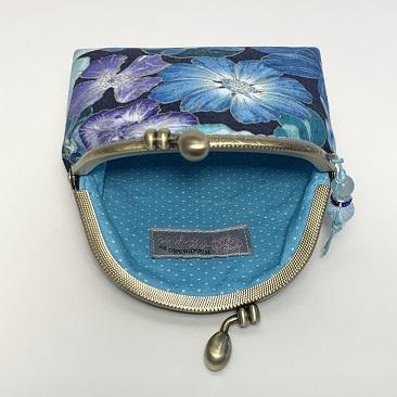 Kék szellővirág tárca belseje