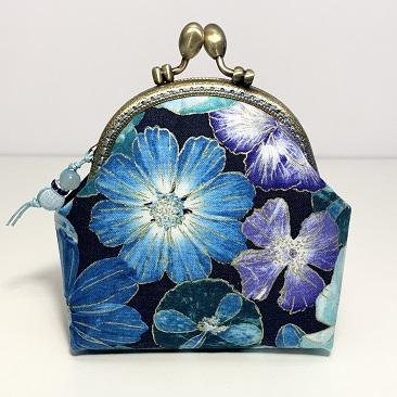 Kék szellővirág tárca CST08